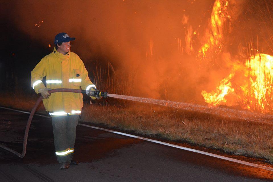 Agradecimiento a todos los que intervinieron en el incendio