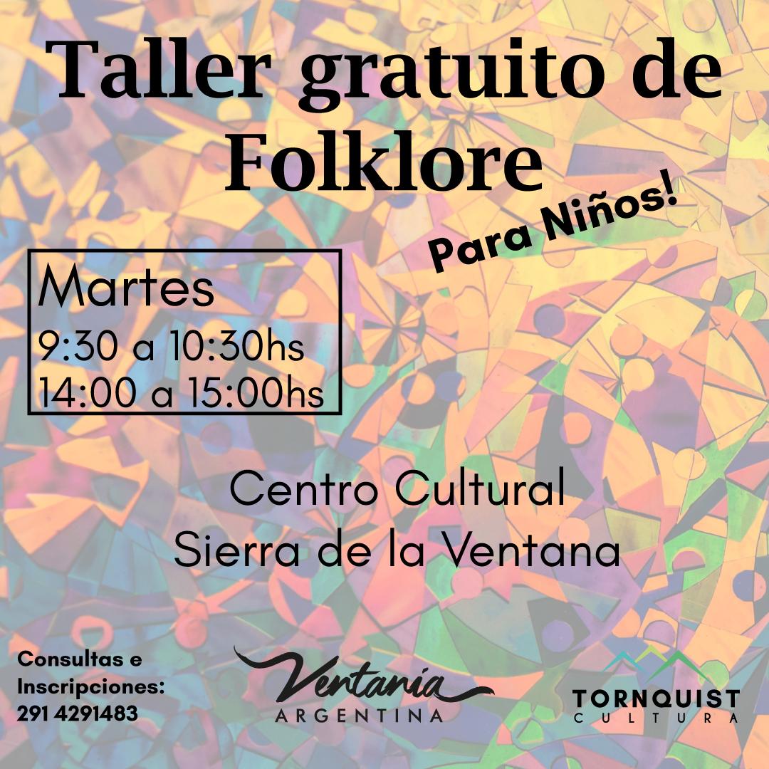 Sierra de la Ventana – Taller gratuito de folclore para niños