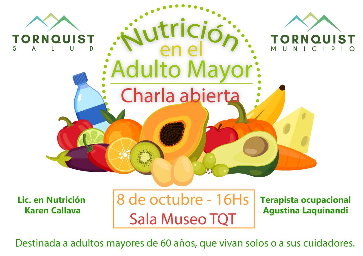 """Tornquist – Charla abierta """"Nutrición en el adulto mayor"""""""