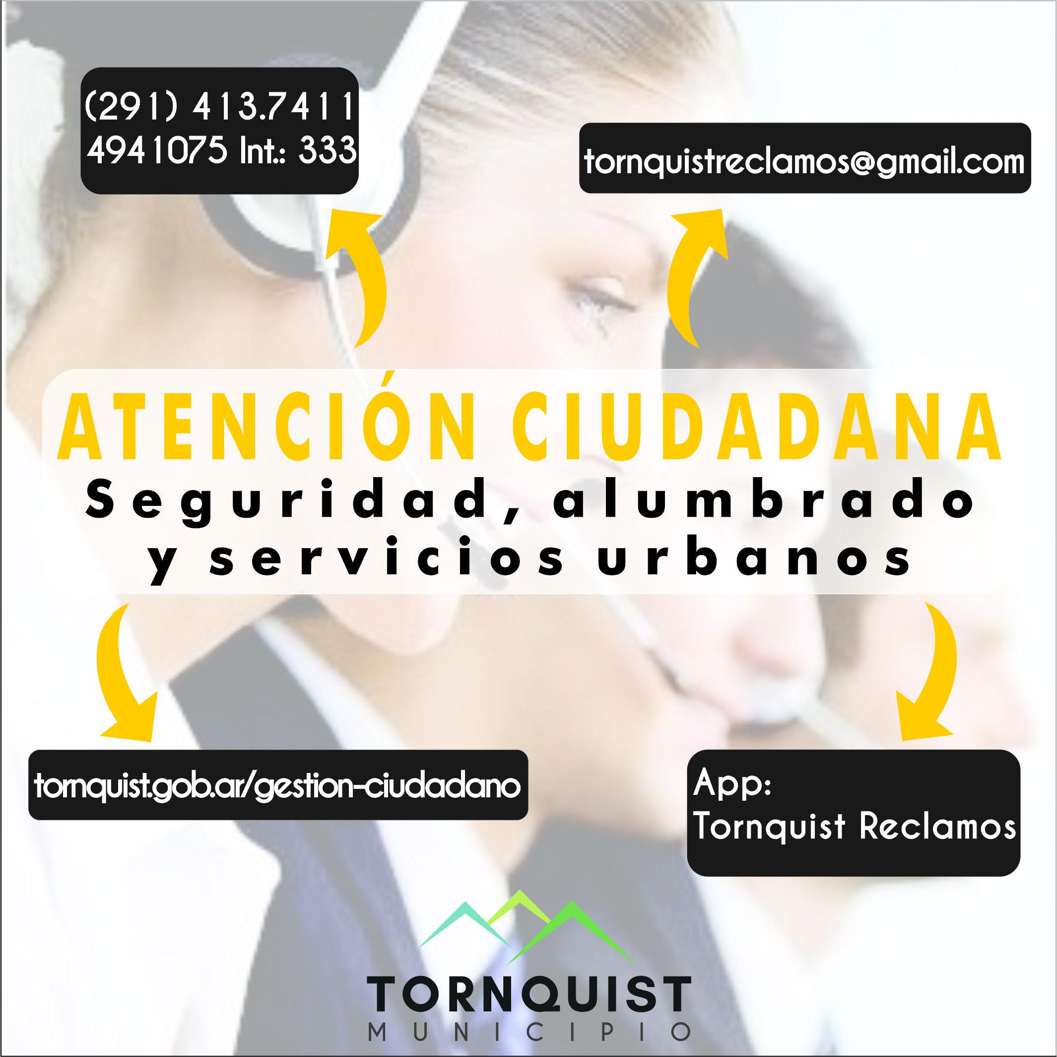 Tornquist Municipio recuerda las vías de comunicación de Atención Ciudadana