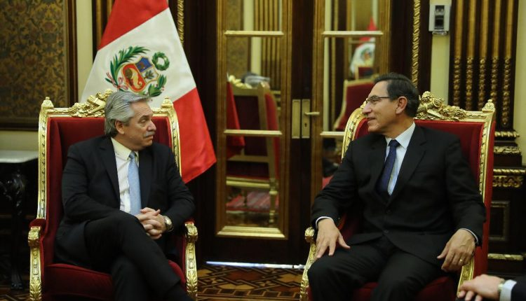 Alberto Fernández coincidió con el presidente de Perú en la necesidad de consolidar la unidad latinoamericana
