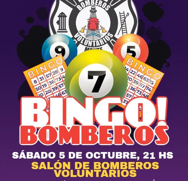 Monte Hermoso – Bingo a beneficio de Bomberos Voluntarios
