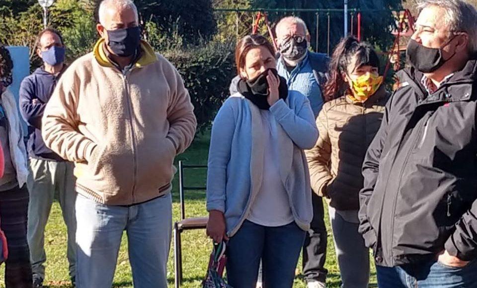 Villa Ventana – Reunión con vecinos en la plaza «Salerno»