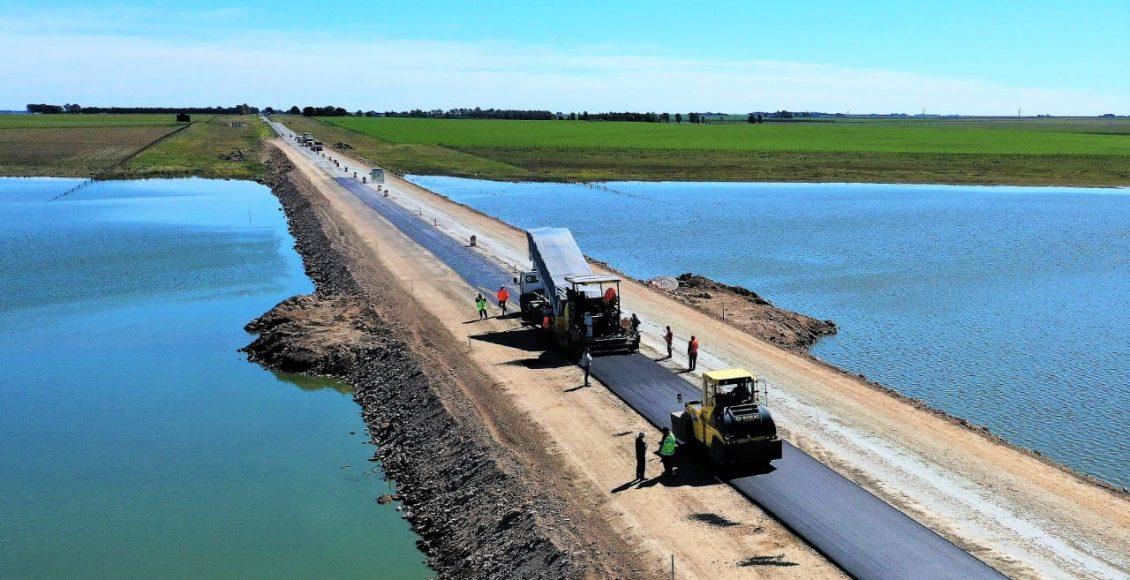 Vialidad Nacional continúa con la pavimentación del alteo, en la Ruta Nacional 3
