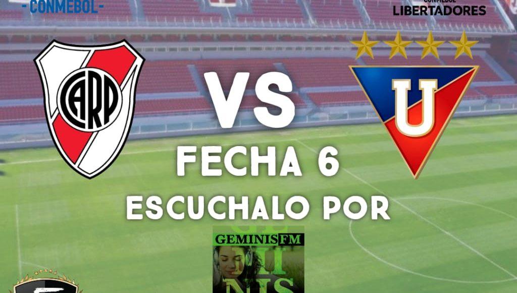 Fútbol – Este martes Géminis Fm transmite la sexta fecha de la Copa Libertadores