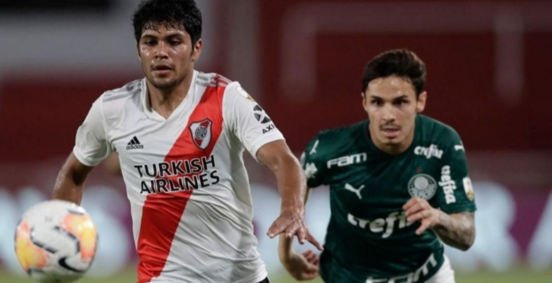 River venció 2-0 a Palmeiras, pero no le alcanzó