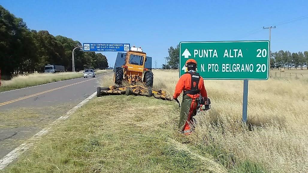 Vialidad Nacional – Se continúan con las tareas de mantenimiento de rutas en nuestra zona