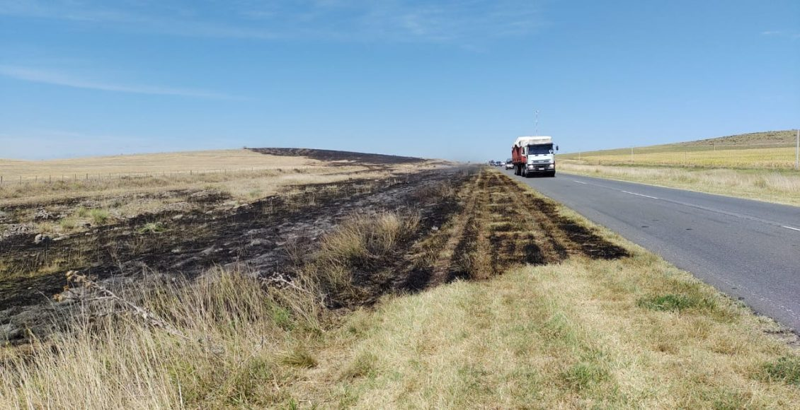 Ruta 51 – Principio de incendio en el kilómetro 678