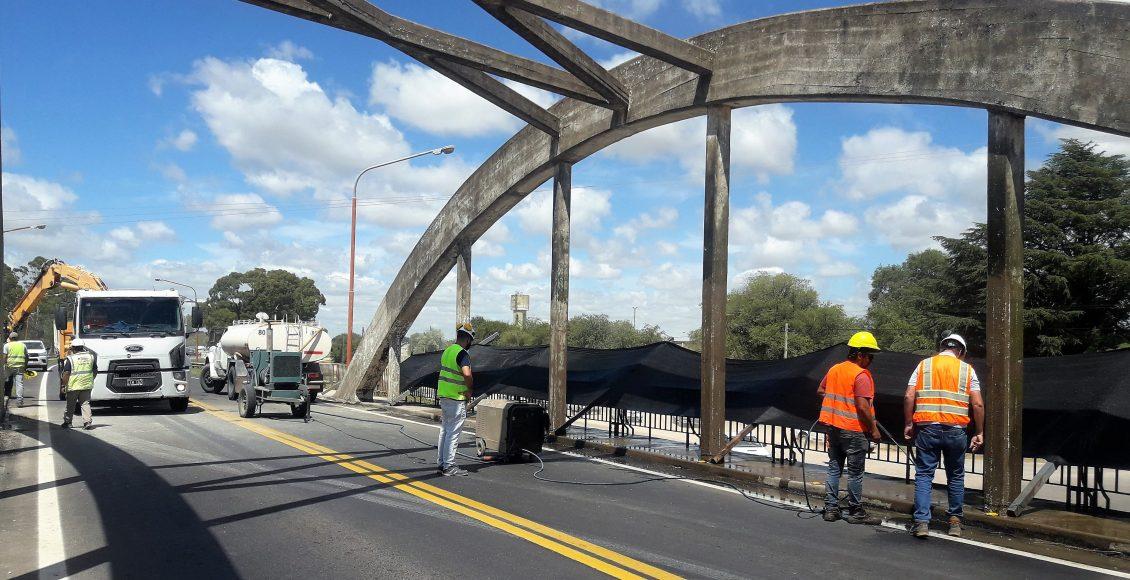 Vialidad Nacional pone en valor el puente en el acceso a Pigué