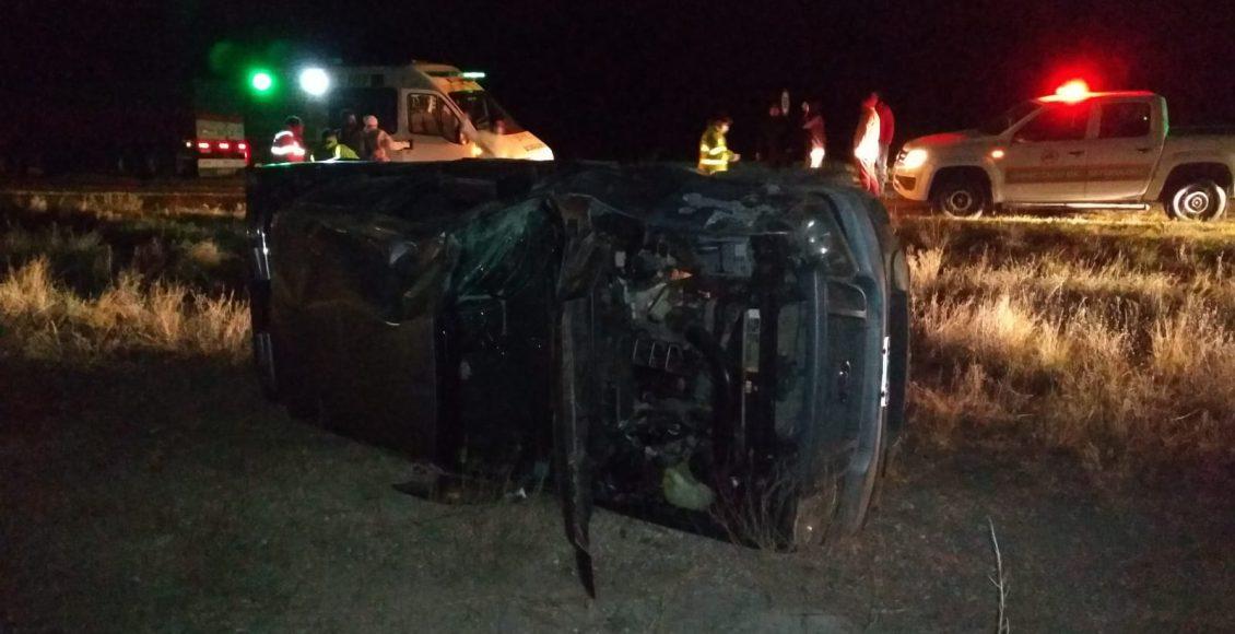 Ruta 33 – Un vecino del distrito protagonizó un vuelco, afortunadamente sin consecuencias
