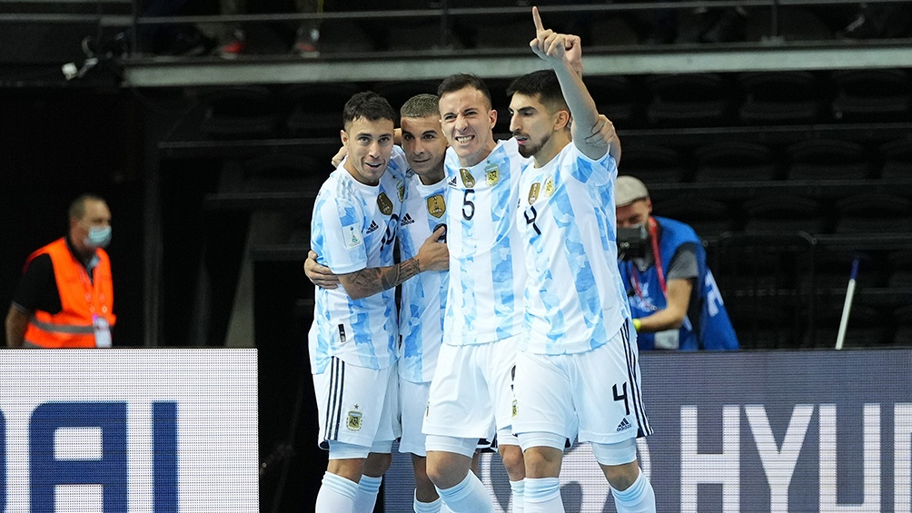 Argentina le ganó a Brasil en un vibrante duelo y es finalista del Mundial de futsal