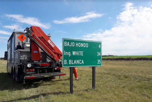 Vialidad Nacional ejecutó tareas de reemplazo de cartelería en un tramo de la ruta Nacional 3