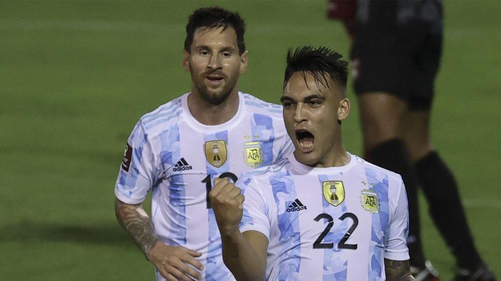Argentina, con buen juego y efectividad en ataque, goleó a Venezuela en Caracas