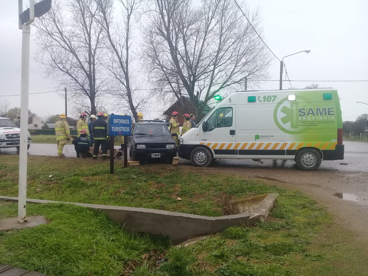 Saldungaray – Accidente vehicular en la Avenida Corrales
