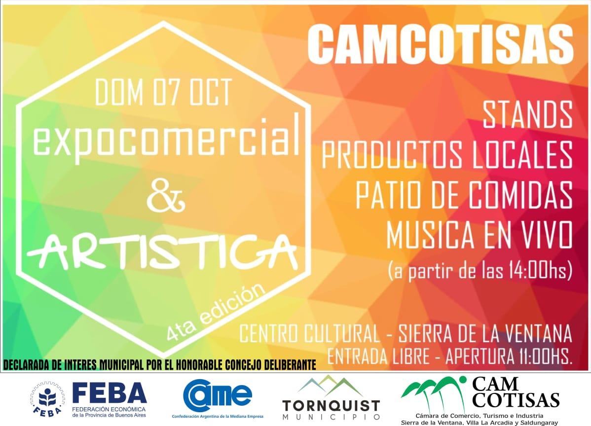 """CAMCOTISAS presenta la 4º Edición de la """"Expo-Comercial y Artística"""""""