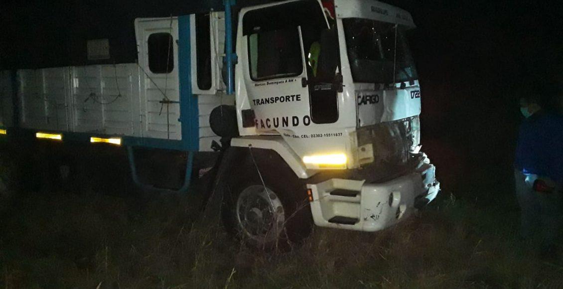 Ruta 33 – Accidente sin heridos a la altura del kilómetro 80
