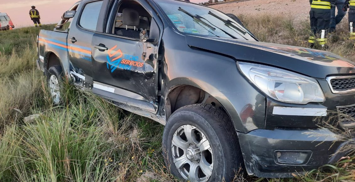 Ruta 33 –  Triple accidente afortunadamente sin víctimas fatales